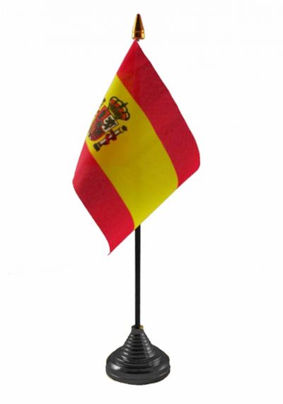 SPAIN (WITH CREST) - Table Flag